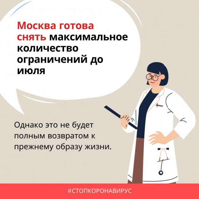 В Москве составили график отмены ограничений с середины июня