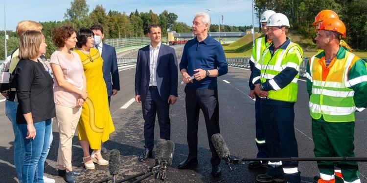 Собянин открыл движение по дублеру Калужского шоссе от Коммунарки до МКАД