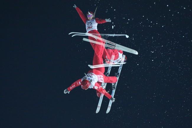 Лыжный акробат М. Буров завоевал бронзу наэтапе Кубка мира в столице