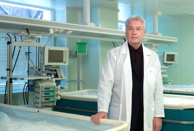 Собянин посетил ГКБ №36 имени Ф. И. Иноземцева