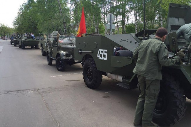 БТР пойдет наБрест. В столицеРФ стартует бронепробег «Дорога Мужества-2017»