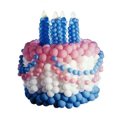 Как сделать из шариков торт 908